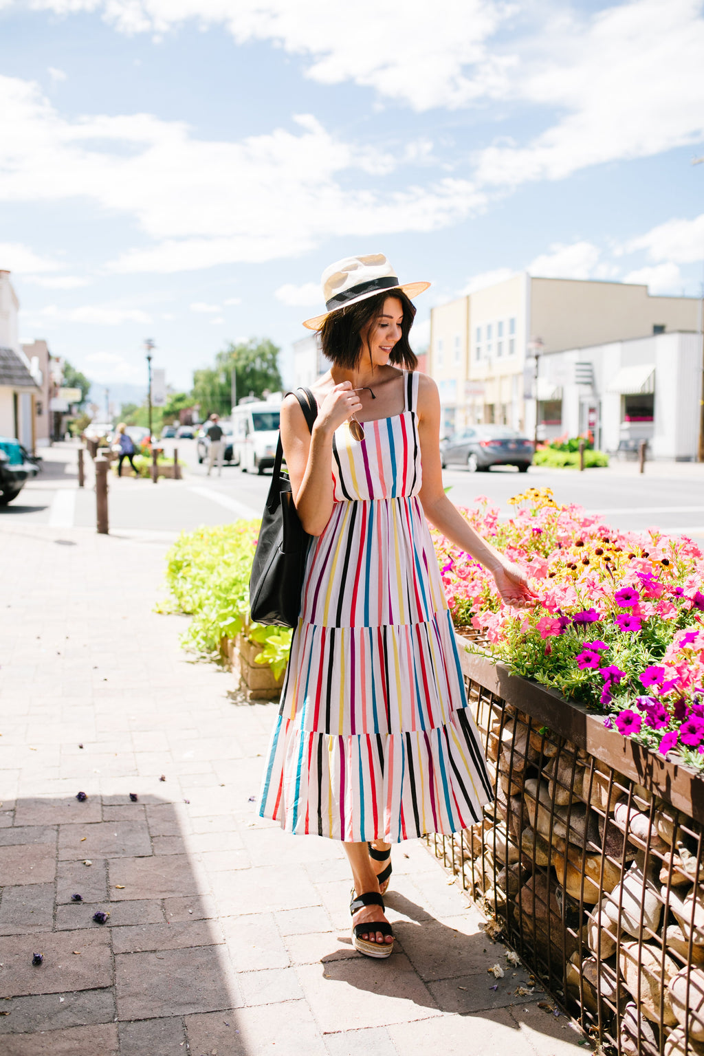 Carnivale Striped Midi Dress