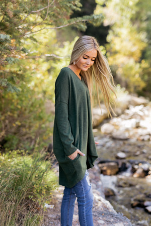 Creature Comforts Tunic In Forrest Green