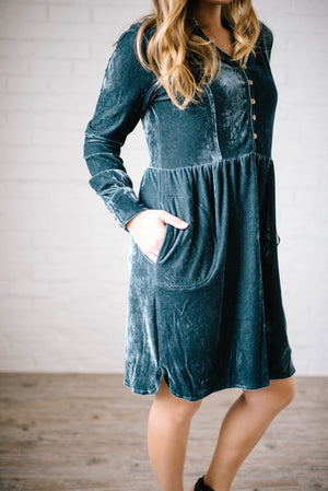 Crushing on You Dress in Teal