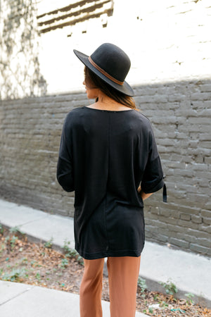Easy Come Easy Go High-Low Top In Black - ALL SALES FINAL