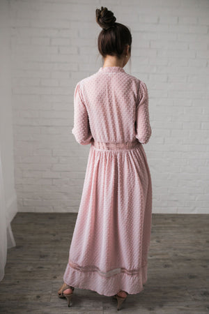 First Blush Swiss Dot Dress - ALL SALES FINAL