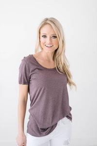 French Lavendar Scoop Neck Tee