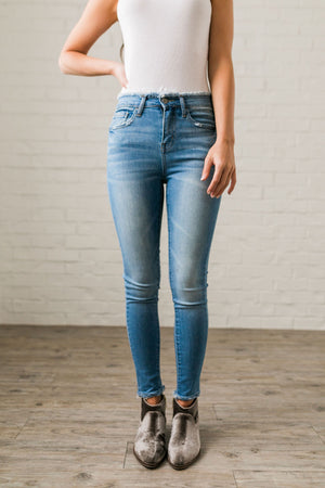 Fringed Waist Skinny Jeans - ALL SALES FINAL