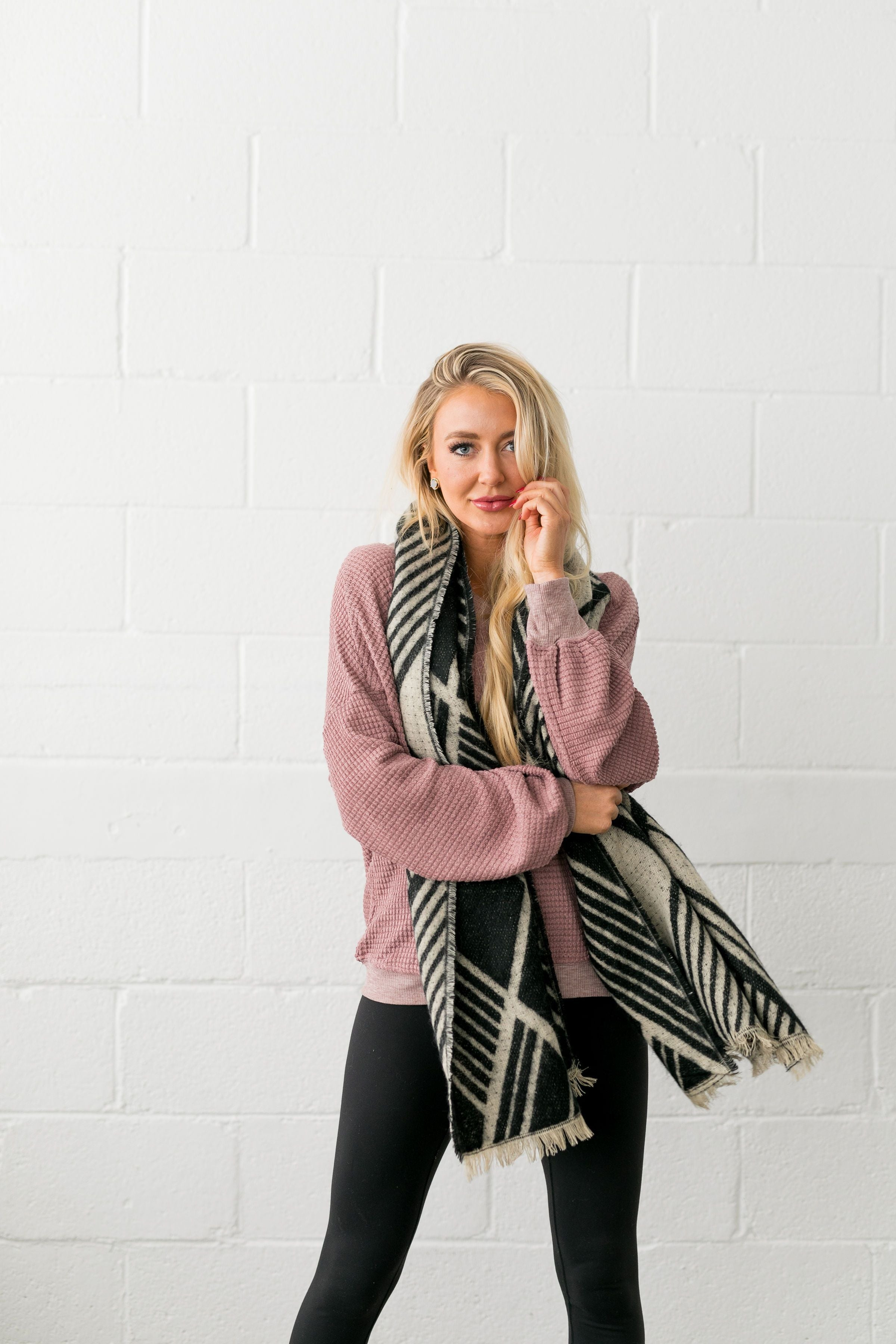 Full Tilt Fringed Scarf - ALL SALES FINAL