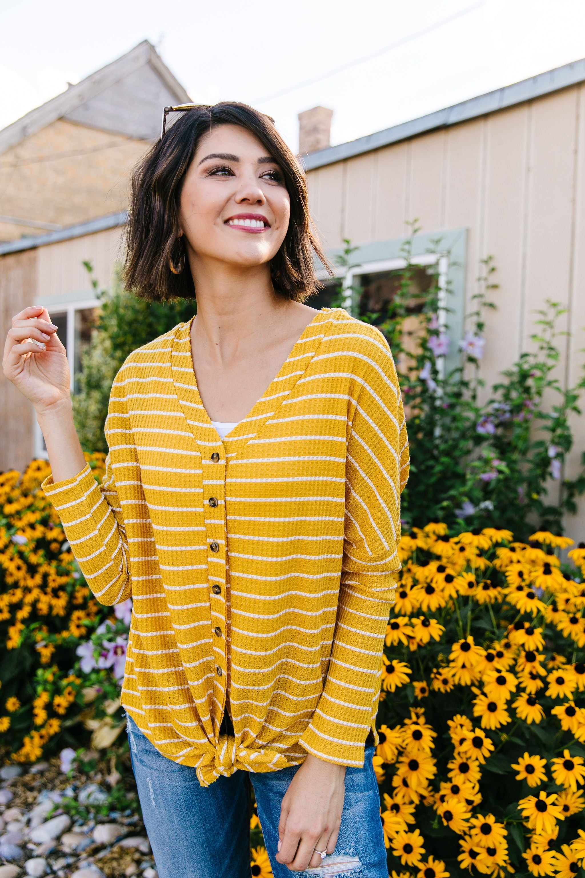 Good As Gold Striped Top
