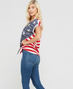 Stars + Stripes Knot Top