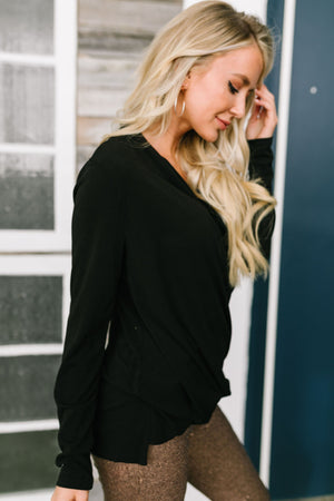 Let's Wrap Things Up Top In Black - ALL SALES FINAL