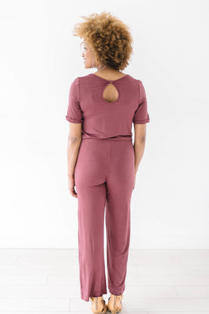 Life Is Good Jumpsuit In Berry