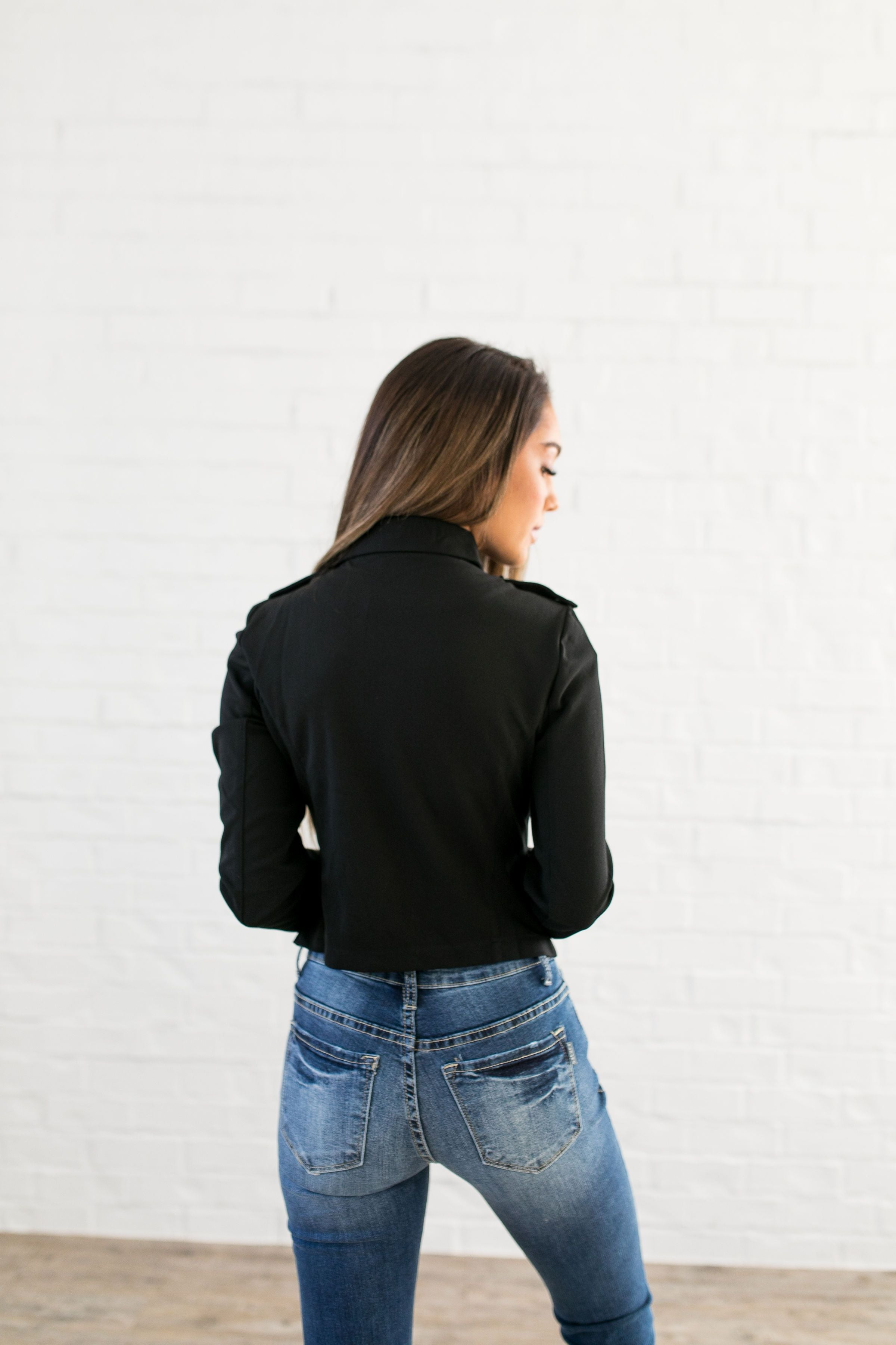 Modern Moto Jacket In Black - ALL SALES FINAL