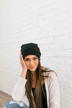 Nifty Knit Beanie In Black
