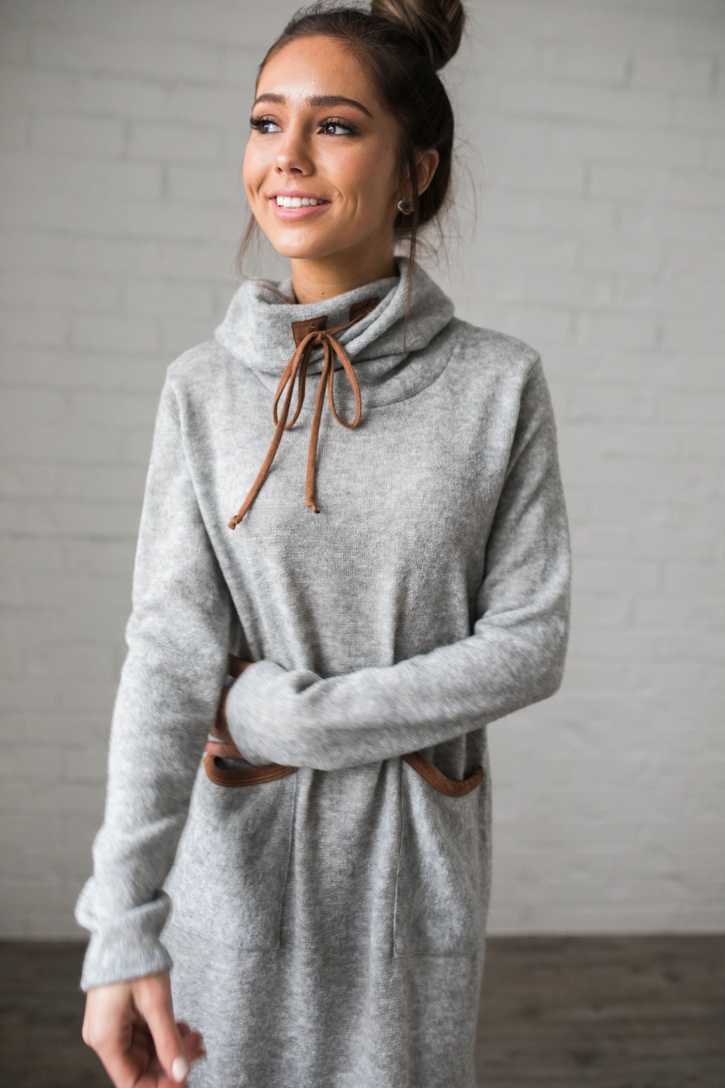 Penny For Your Thoughts Sweater Dress - ALL SALES FINAL