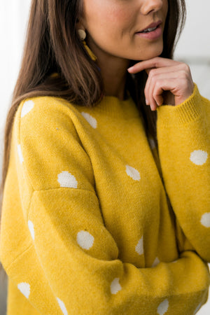 Polka Dots + Happy Thoughts Sweater