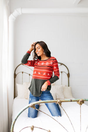 Reindeer Games Holiday Sweater In Red