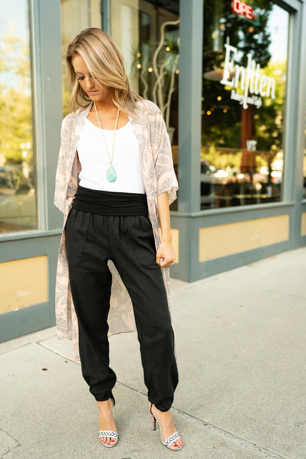 Relaxed Black Linen Pants