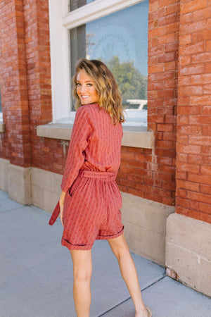 Romp Into Fall Rust Romper