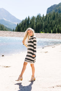 Silver Lining Striped Sweater Dress