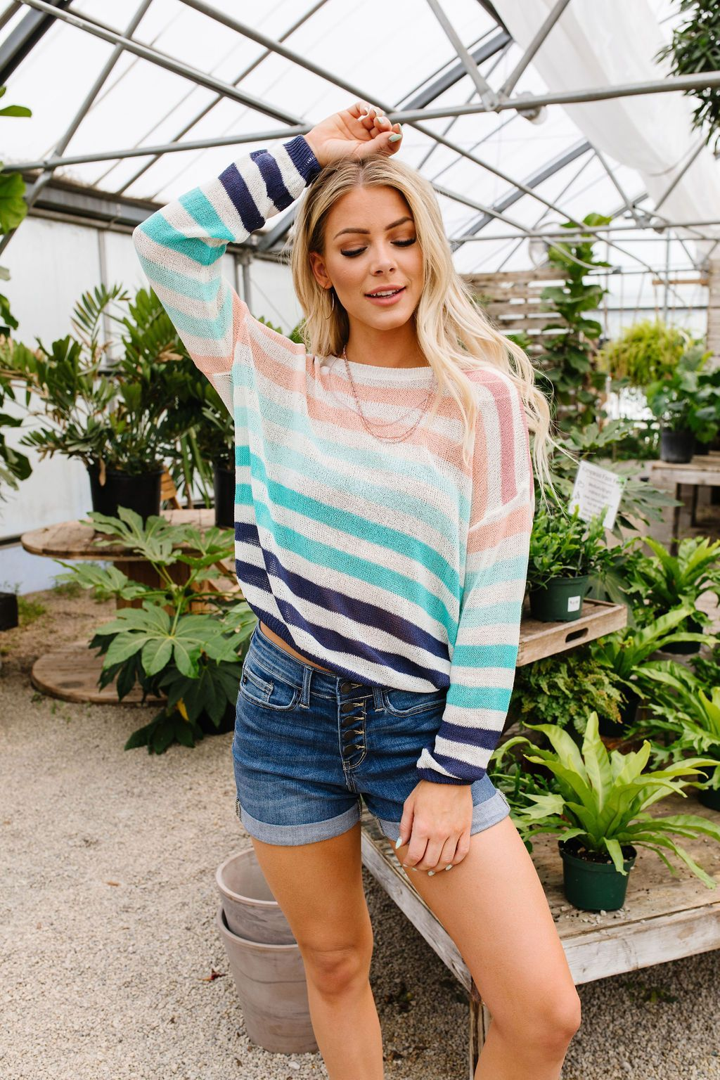 Sloan Sweater Sheer & Striped