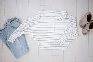 Soho White + Gray Stripes