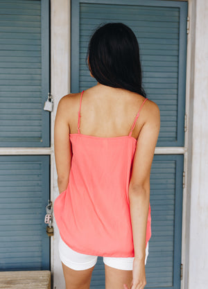 Sugar + Spice Lace Camisole In Coral