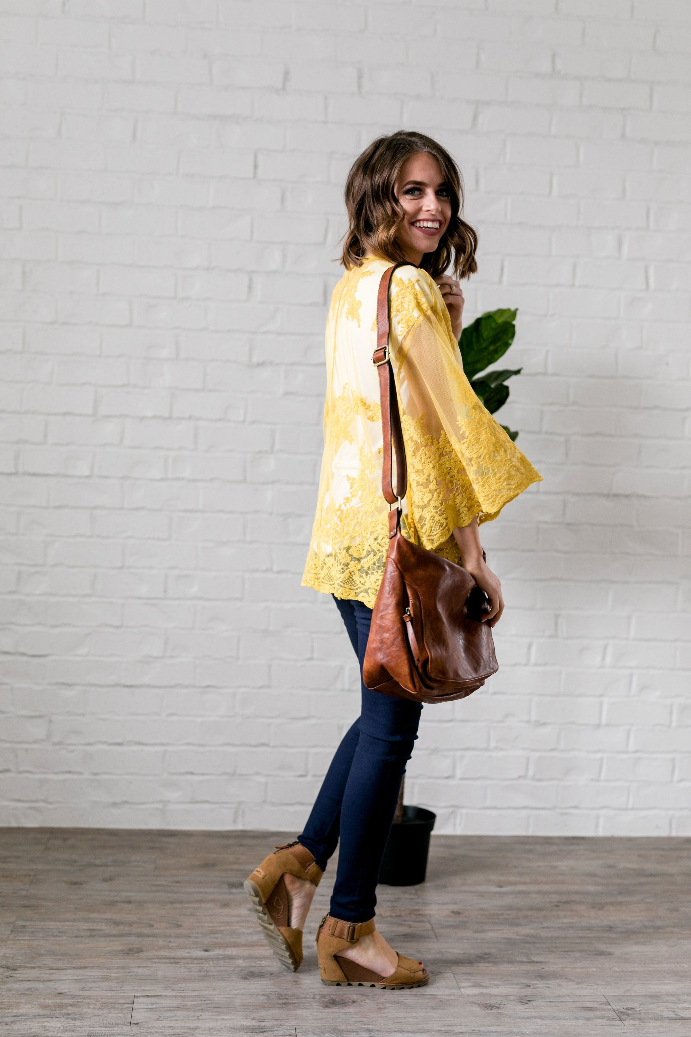Sweet As Honey Lace Kimono - ALL SALES FINAL