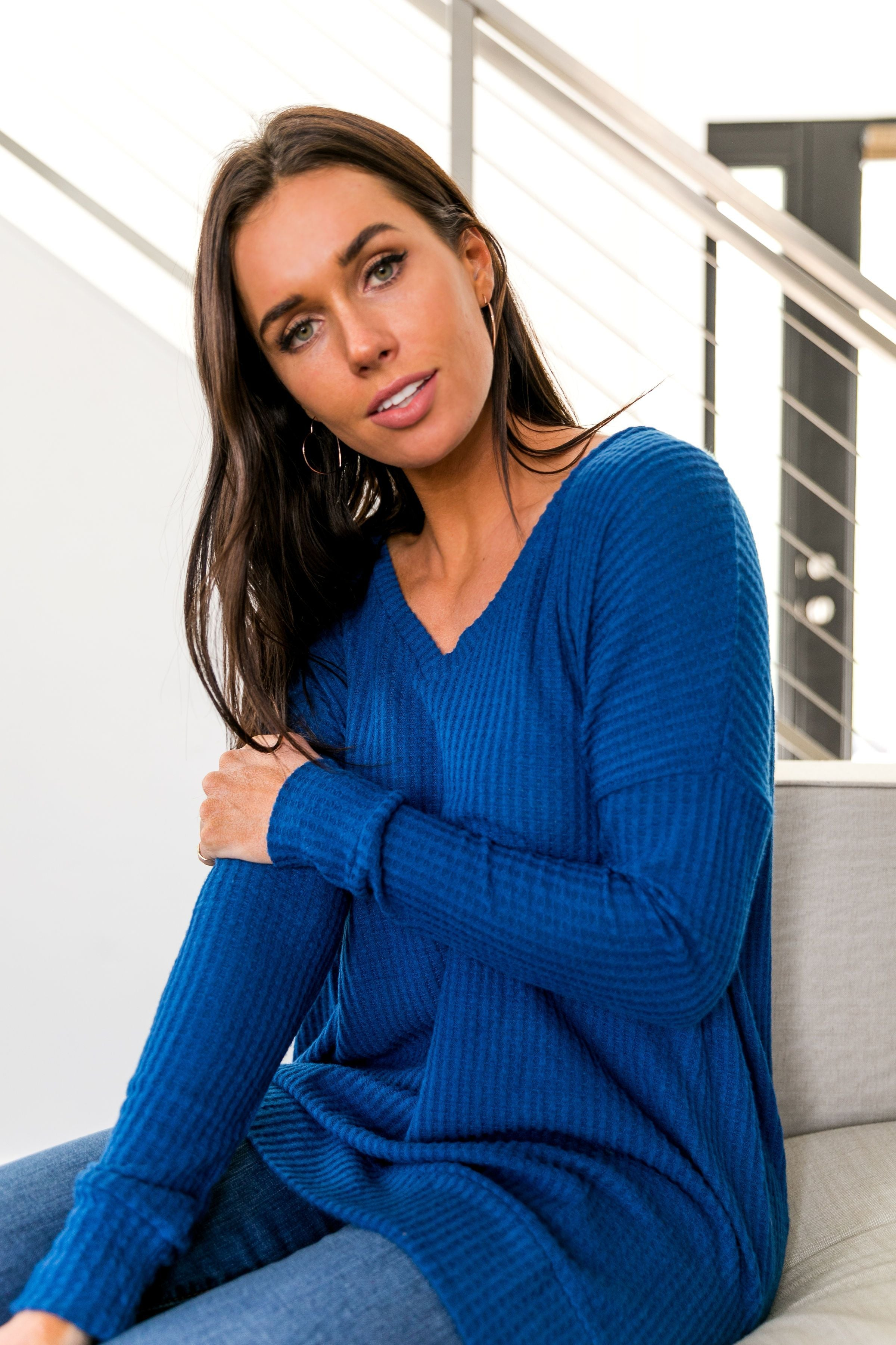 Thermal Tunic In Sapphire