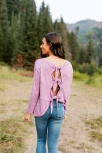 Tie Back Top In Lavender