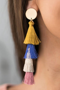 Tiers Of Tassels Earrings