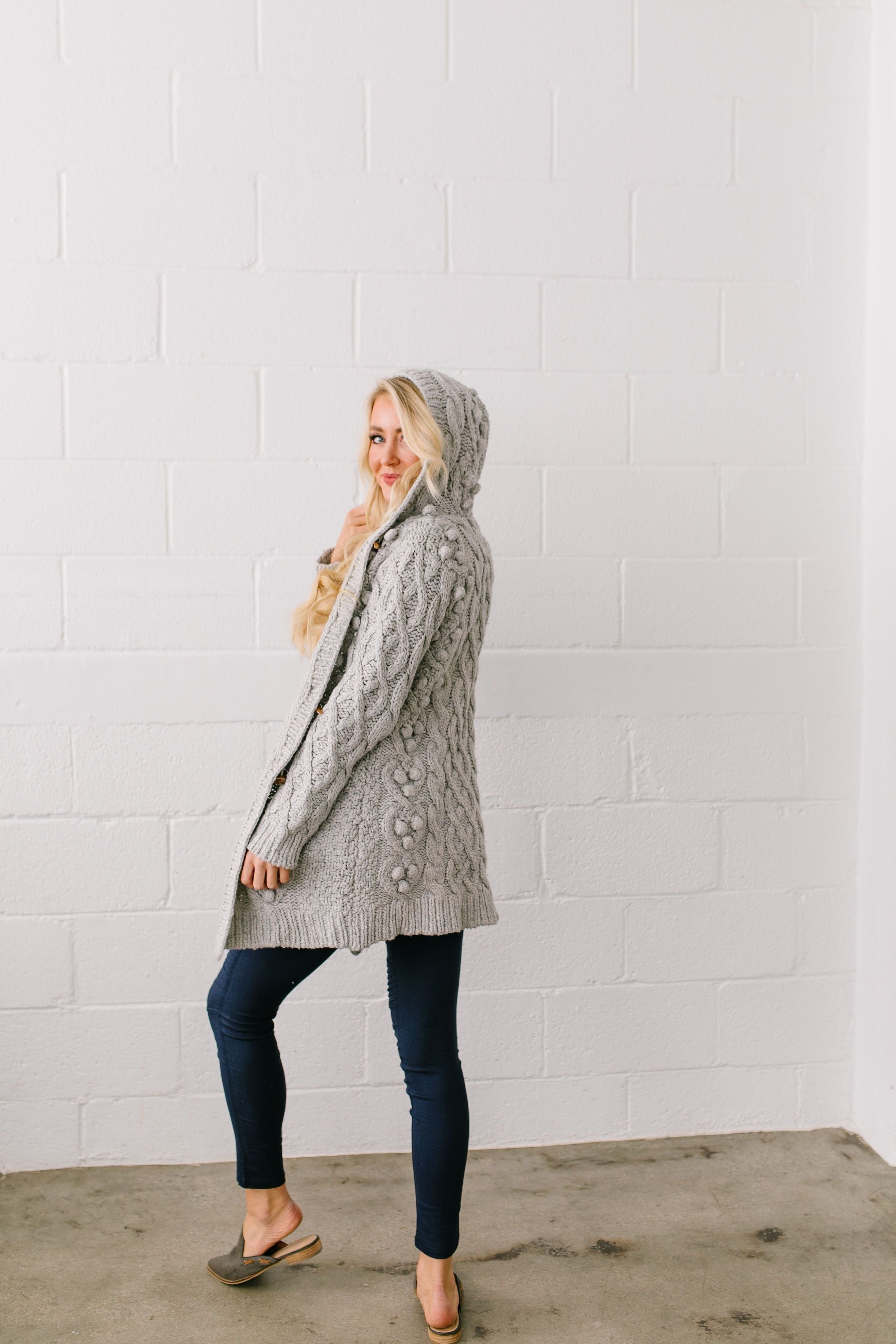 Toggled Cable Knit Cardigan