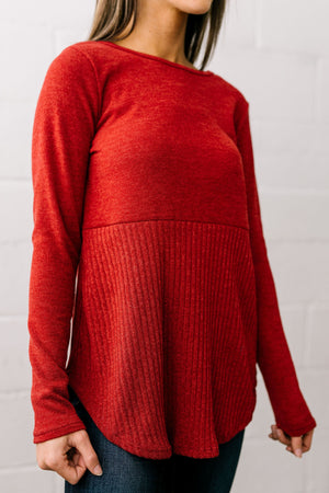 Touch Of Class Top In Rust - ALL SALES FINAL