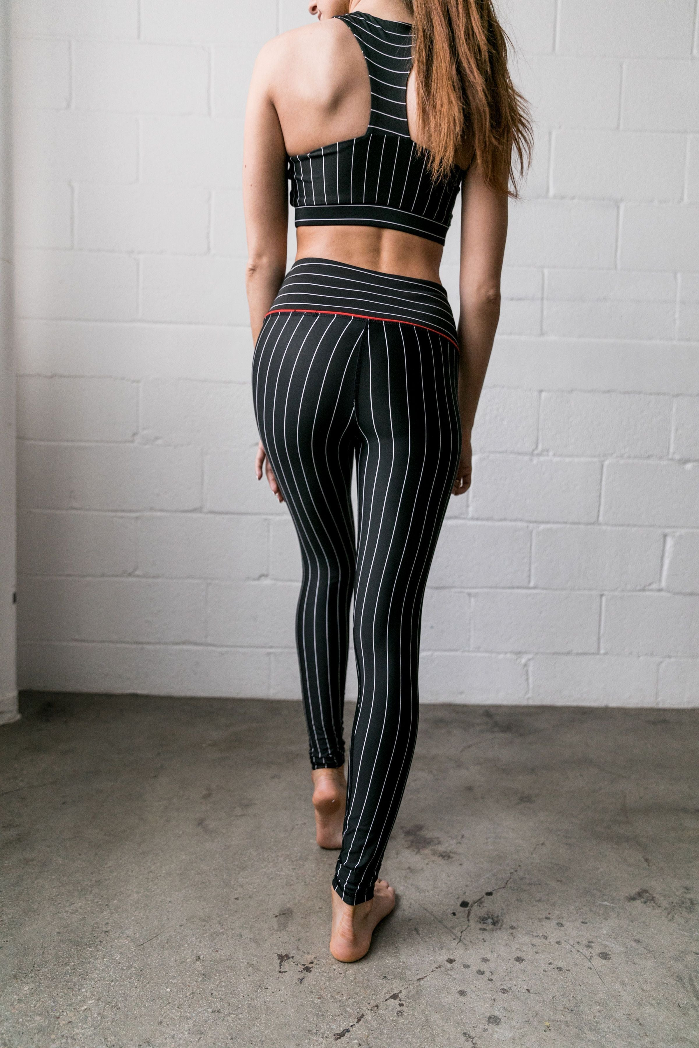 True Stripes Athletic Leggings - ALL SALES FINAL