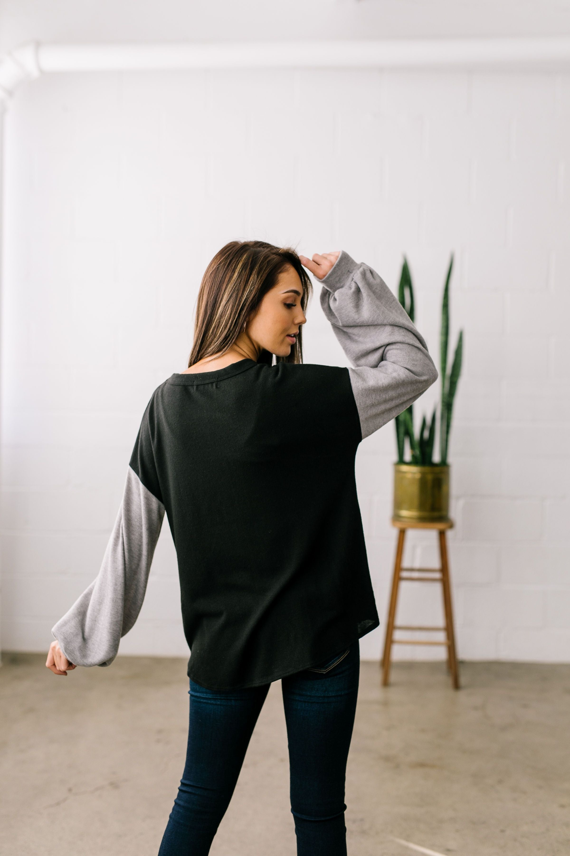 Twist Front French Terry Raglan - ALL SALES FINAL