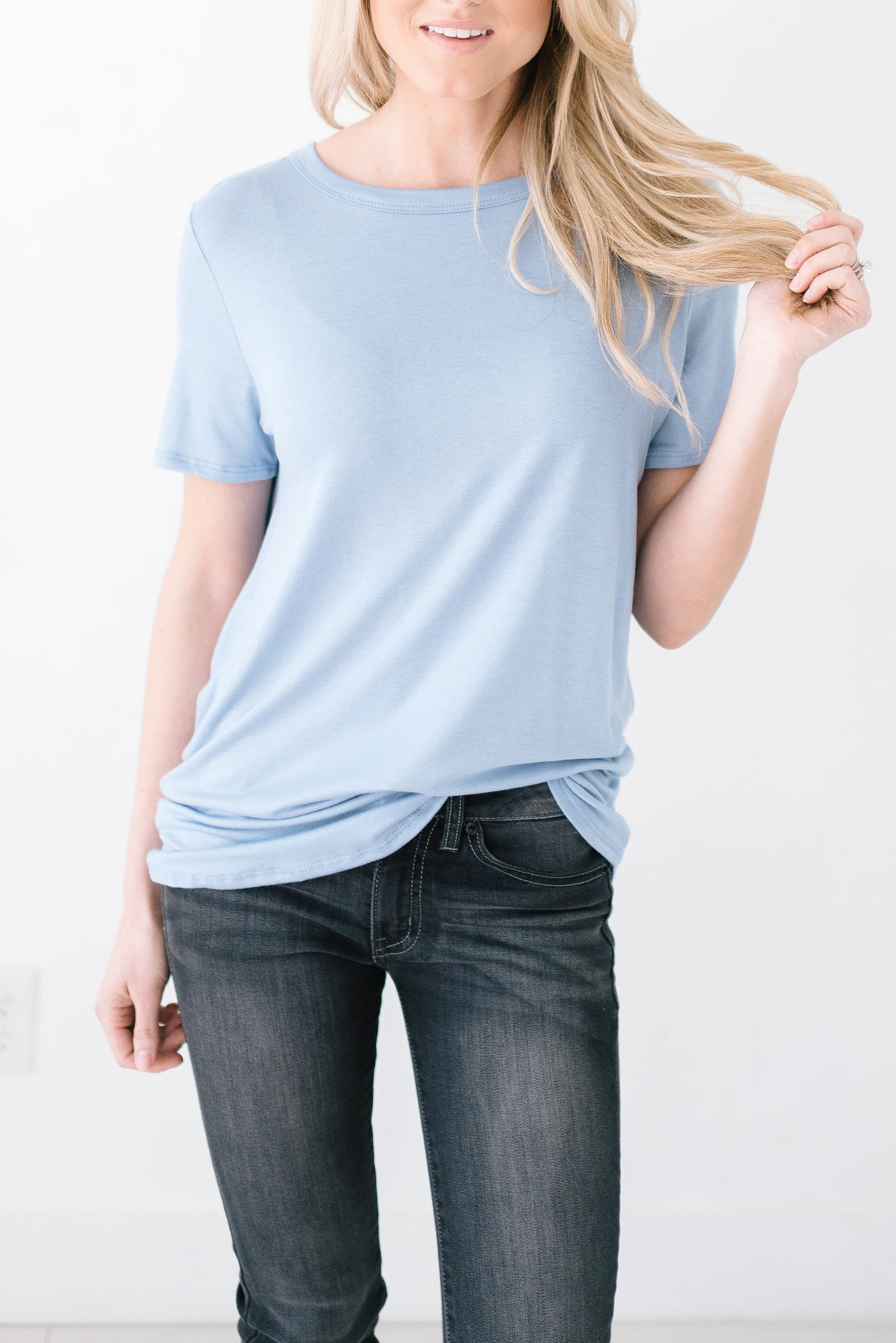 Wild & Free Tee In Denim