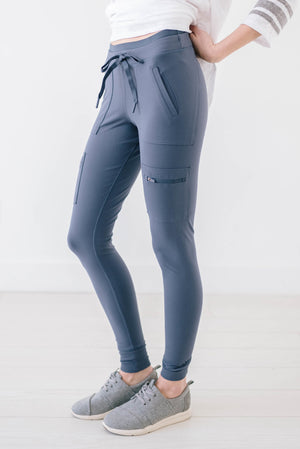 Work It Cargo Joggers in Slate Blue Gray