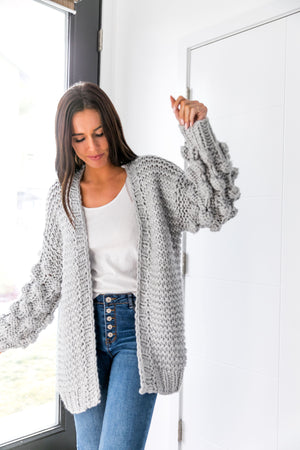 You Go Girl Pom Pom Cardigan