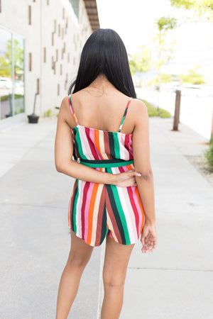 Stand Out Striped Romper