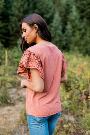Autumn Splendor Lace Sleeve Top