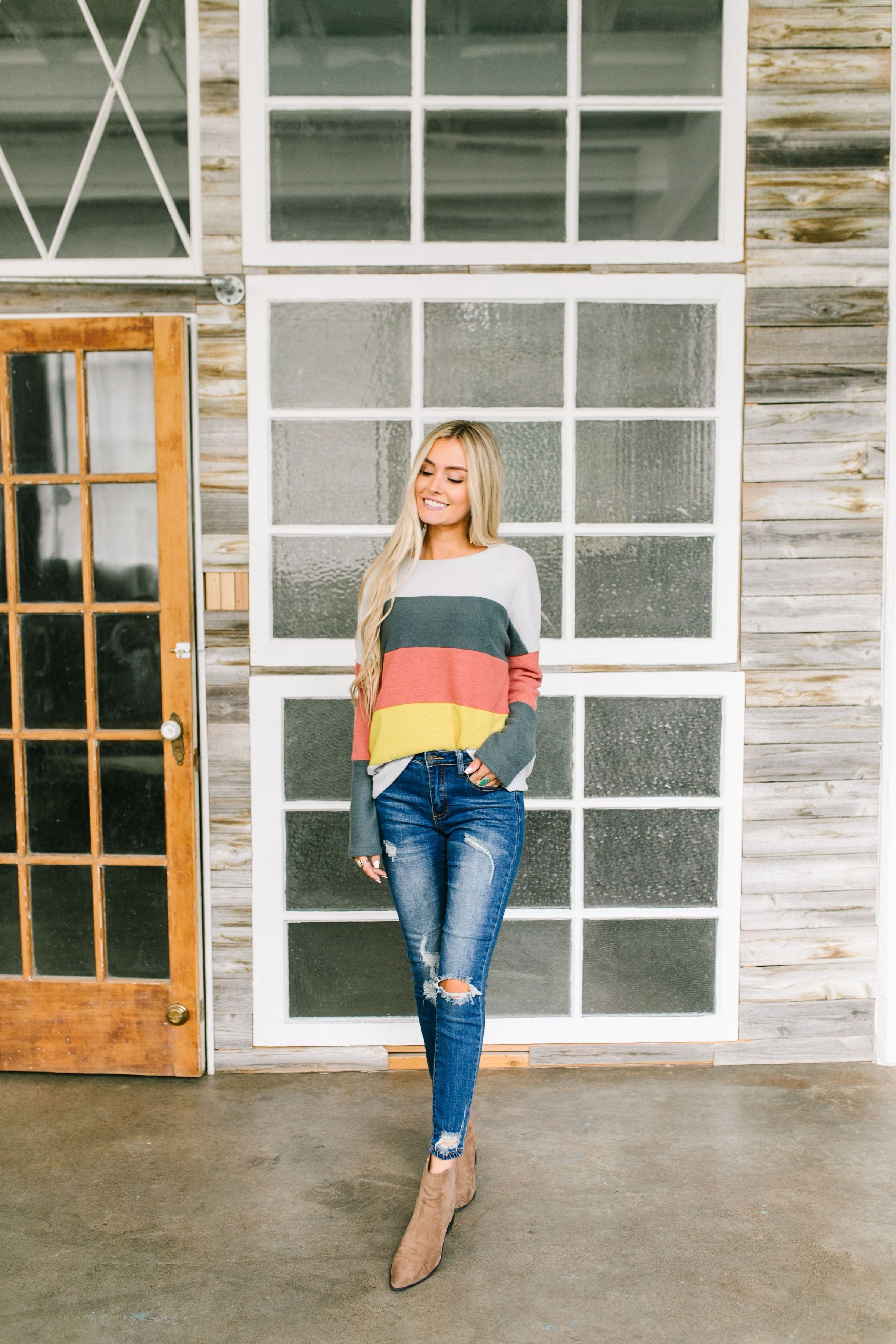 Color Block Party Striped Top