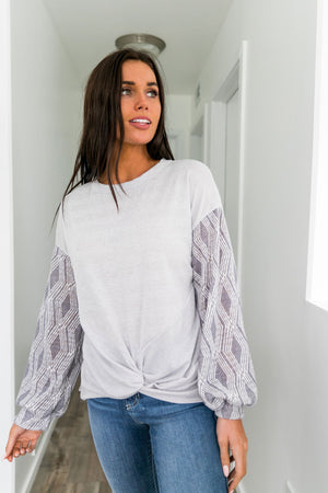 Diamonds And Ice Contrast Sleeve Top