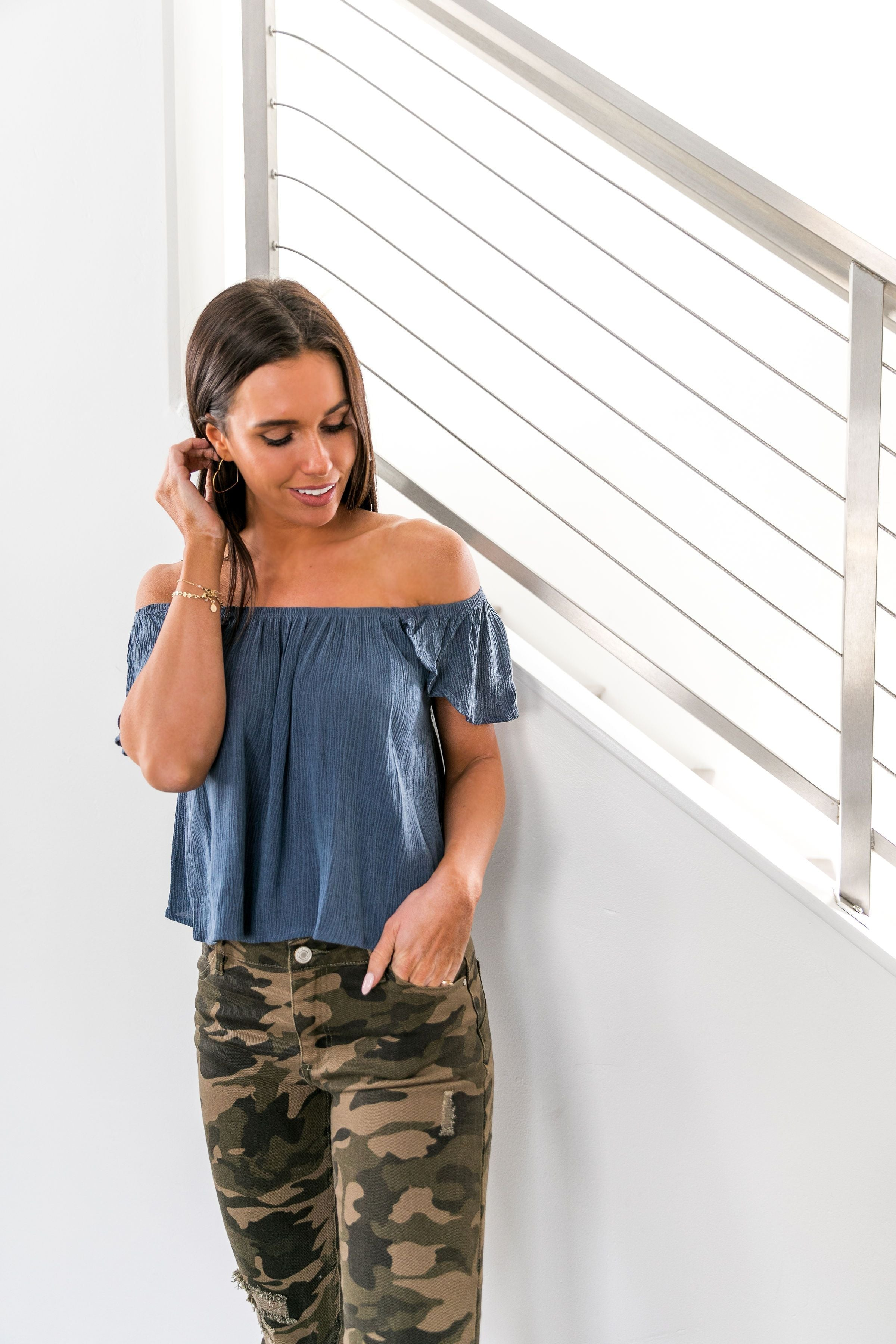 Midnight Magic Off-Shoulder Top