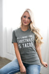 Tacos For Christmas Graphic Tee - ALL SALES FINAL