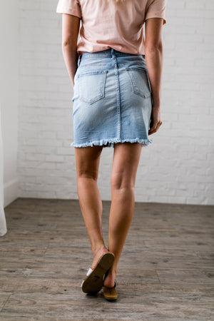 Button-Down Mini Skirt
