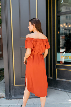 Desert Rose Dress In Rust - ALL SALES FINAL
