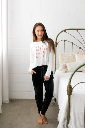 Lots Of Love Graphic Tee In White