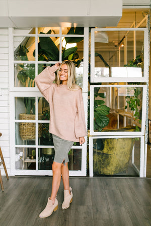 Pink Primrose Bell Sleeve Sweater - ALL SALES FINAL