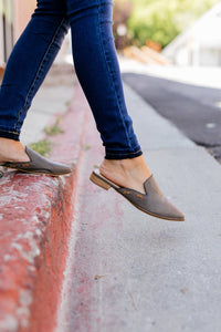 Slip Into Fall Slides In Smoky Gray