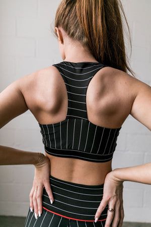 True Stripes Sports Bra - ALL SALES FINAL
