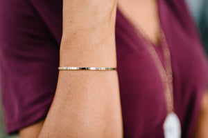 Believe Gold Bracelet