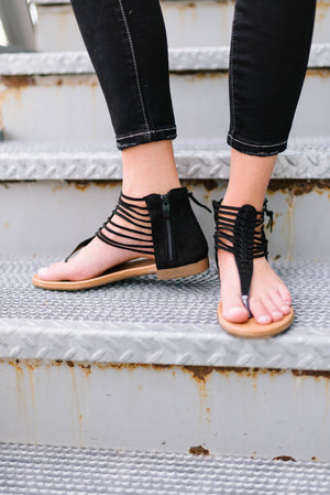 Black Summer Sandals - ALL SALES FINAL
