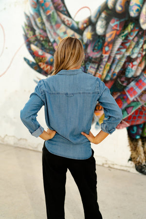 Darcie Denim Top