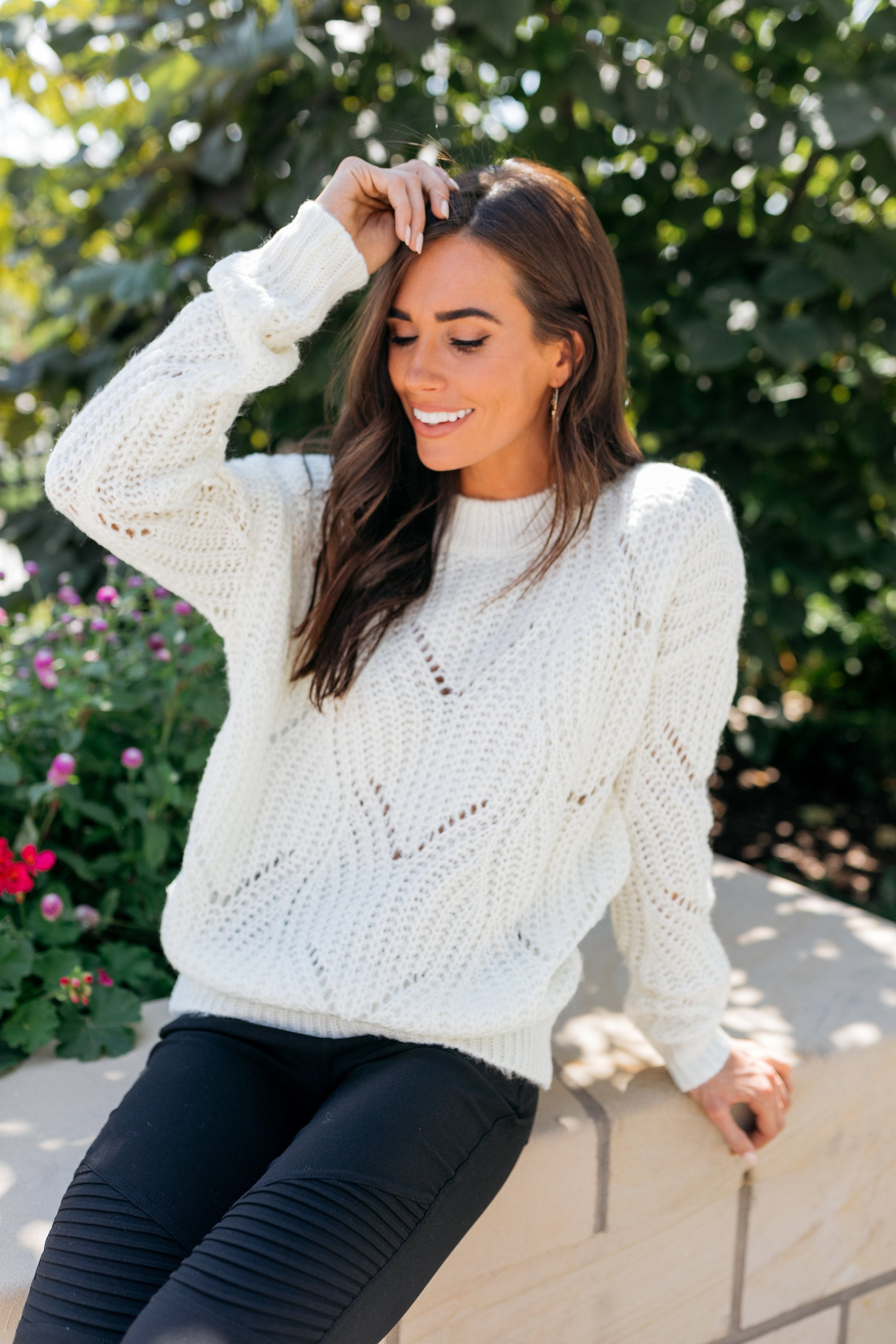 Daydream Delight Sweater In Ivory - ALL SALES FINAL
